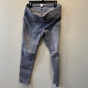 H&M gray Skinny Jeggings Size 14